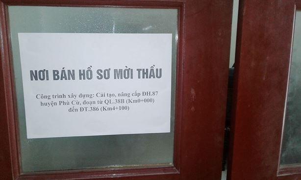 """Phát hành HSMT tại huyện Phù Cừ, Hưng Yên: Nhà thầu """"đâm đơn"""" bất ngờ đính chính"""