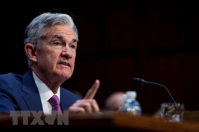 Chủ tịch FED Jerome Powell trong phiên điều trần trước một ủy ban Thượng viện Mỹ tại Washington DC., ngày 17/7. (Ảnh: EFE-EPA/TTXVN)