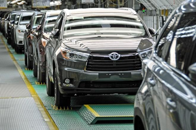 Xe ôtô của hãng Toyota của Nhật Bản. (Nguồn: AP)