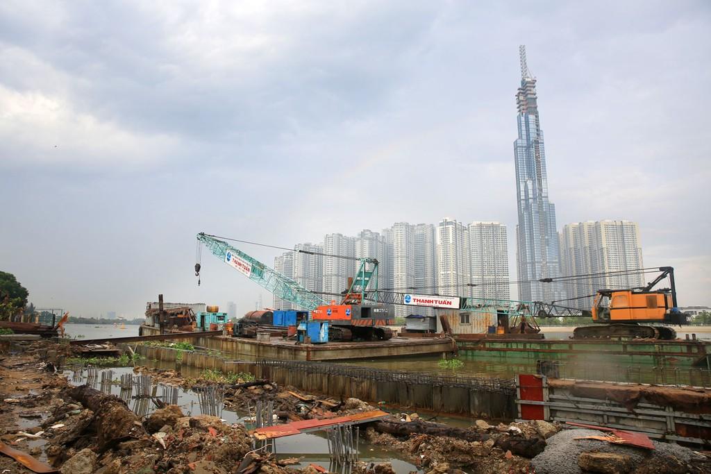 Gói thầu PMU10-CW-01 Xây dựng, lắp đặt thiết bị cống Tân Dinh, Bông Bót do Ban Quản lý đầu tư và xây dựng Thủy lợi 10 mời thầu. Ảnh: Hoài Tâm