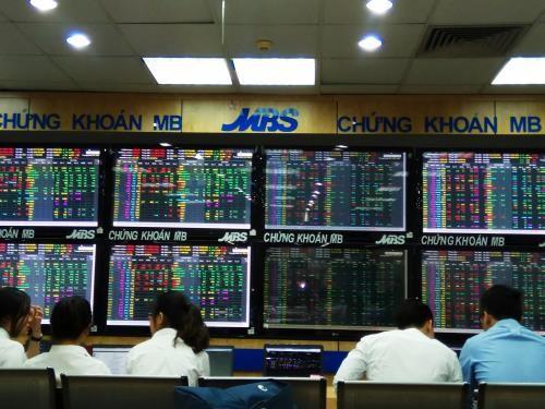 Sắc xanh trở lại với nhóm ngân hàng. Ảnh: Văn Giáp/BNEWS/TTXVN
