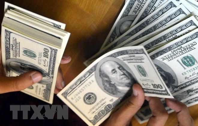 Kiểm đồng USD tại quầy giao dịch tiền tệ ở Jakarta của Indonesia. (Ảnh: AFP/TTXVN)