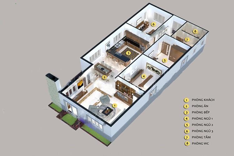 Top mẫu thiết kế nhà cấp 4 có 3 phòng ngủ đẹp, chất đáng sở hữu - ảnh 6