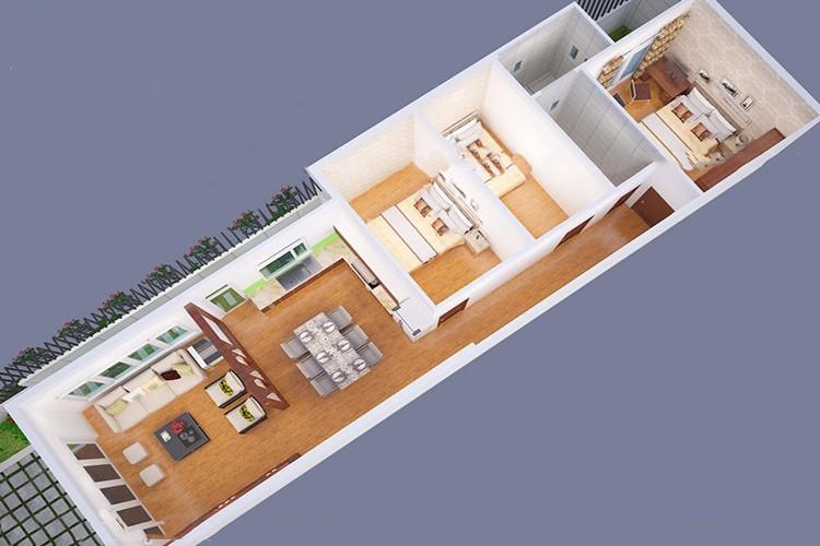 Top mẫu thiết kế nhà cấp 4 có 3 phòng ngủ đẹp, chất đáng sở hữu - ảnh 3