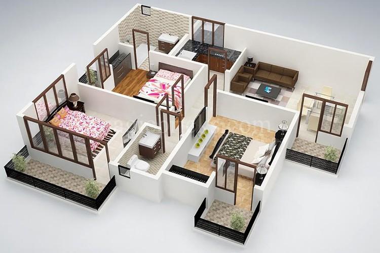 Top mẫu thiết kế nhà cấp 4 có 3 phòng ngủ đẹp, chất đáng sở hữu - ảnh 12