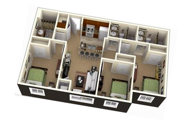 Top mẫu thiết kế nhà cấp 4 có 3 phòng ngủ đẹp, chất đáng sở hữu - ảnh 11