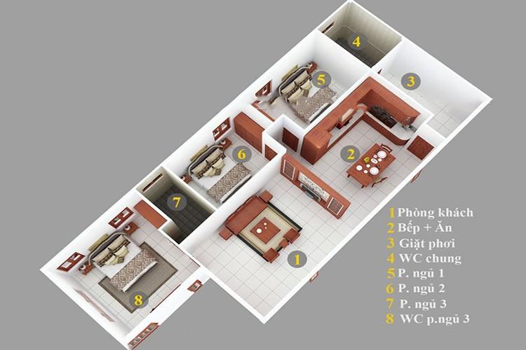 Top mẫu thiết kế nhà cấp 4 có 3 phòng ngủ đẹp, chất đáng sở hữu - ảnh 9