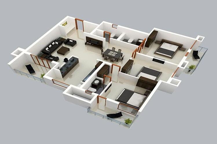 Top mẫu thiết kế nhà cấp 4 có 3 phòng ngủ đẹp, chất đáng sở hữu - ảnh 13