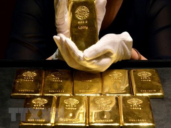 Vàng miếng. (Nguồn: AFP/TTXVN)