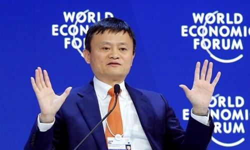 Chủ tịch Alibaba - Jack Ma tại Diễn đàn Kinh tế Thế giới. Ảnh:Reuters
