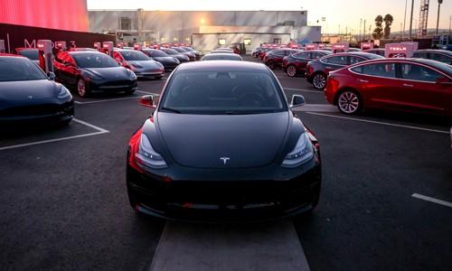 Mẫu xe Model 3s của Tesla. Ảnh:WSJ