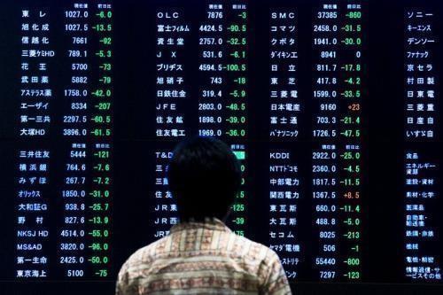 Thị trường chứng khoán châu Á tưng bừng sắc xanh. Ảnh minh hoạ: Reuters
