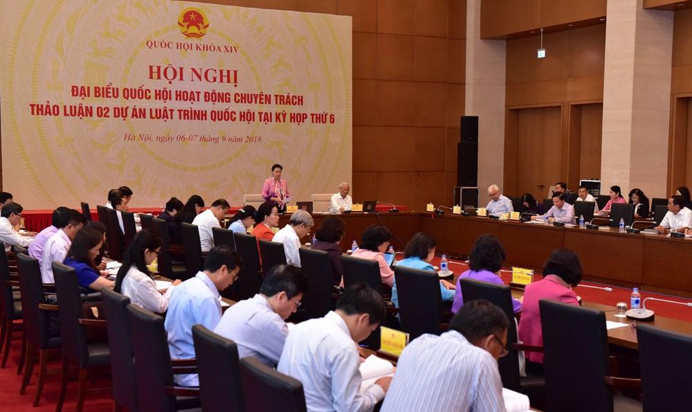 Chủ tịch Quốc hội Nguyễn Thị Kim Ngân chủ trì Hội nghị đại biểu Quốc hội hoạt động chuyên trách. Ảnh: Quang Khánh