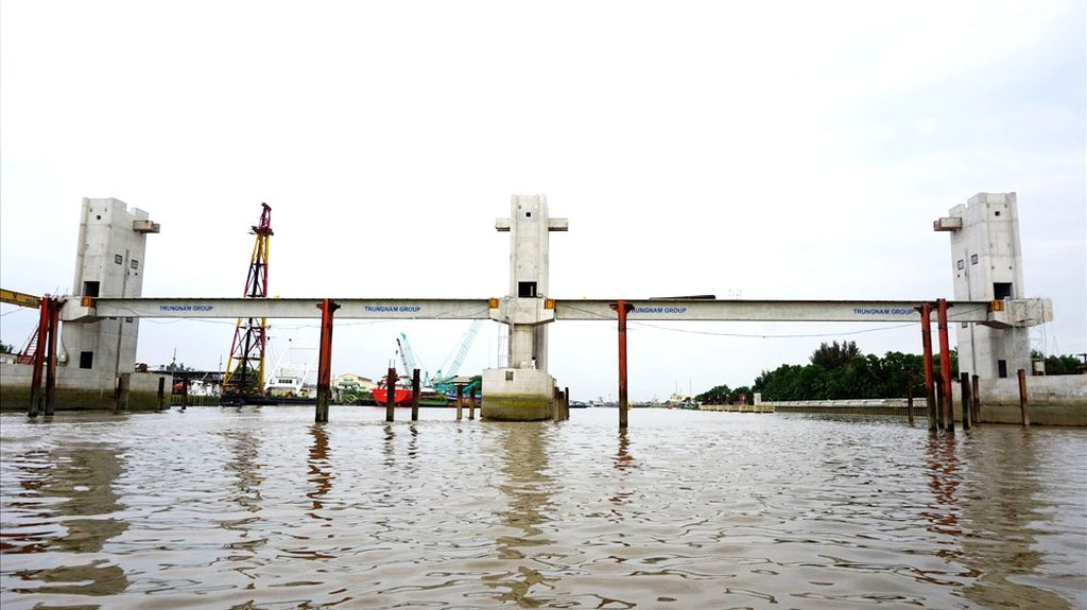Dự án chống ngập gần 10.000 tỷ đồng tại TP.HCM đã tạm dừng thi công cách đây hơn 3 tháng. Ảnh: Minh Quân