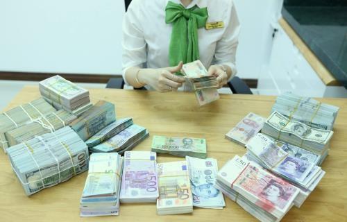 Giá các đồng ngoại tệ giảm. Ảnh minh họa: BNEWS/TTXVN