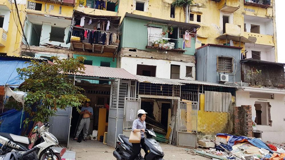 4 dự án cải tạo chung cư cũ theo hình thức BT của Hải Phòng lựa chọn nhà đầu tư trước khi Nghị định 63/2018/NĐ-CP có hiệu lực. Ảnh: Hải Châu