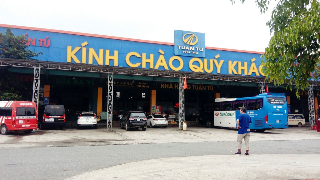 Trạm dừng nghỉ Km57+500 trên cao tốc Nội Bài - Lào Cai có thời gian hoàn vốn tạm xác định cho Công ty Tuấn Tú Phú Thọ là 40 năm. Ảnh: Tiên Giang