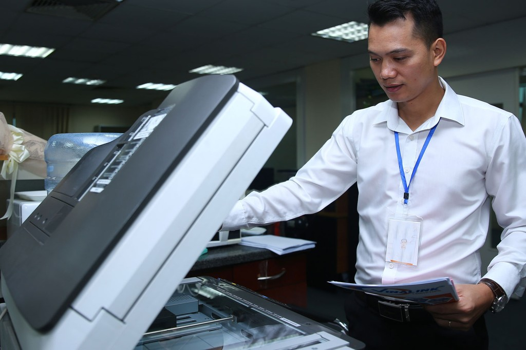 Sở TT&TT tỉnh Long An cho rằng, cấu hình máy photocopy của Liên danh Nhatech - Phú Lợi - Tân Nghệ Tin chưa đạt theo yêu cầu của HSMT. Ảnh: Nhã Chi