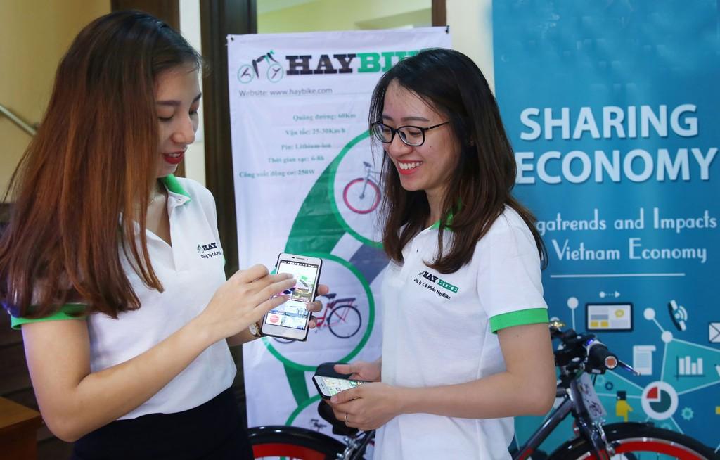 Tại Việt Nam, kinh tế chia sẻ là mô hình kinh doanh mới nhưng đầy tiềm năng. Ảnh: Nhã Chi