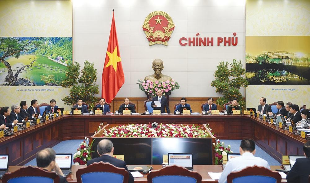 Những nỗ lực nhất quán, kiên trì của Thủ tướng Chính phủ đã giúp cả hệ thống chuyển động, góp phần vào thành tích tăng trưởng năm 2017. Ảnh: Thanh Hải