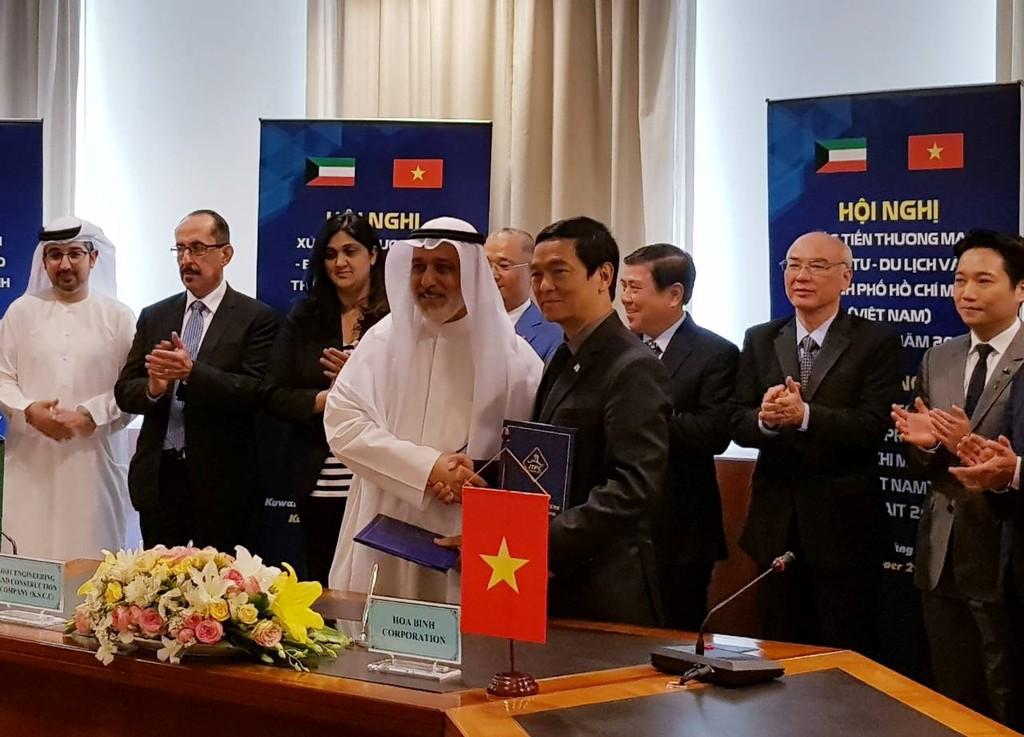 Hòa Bình ký kết liên doanh làm tổng thầu các dự án của Chính phủ Kuwait