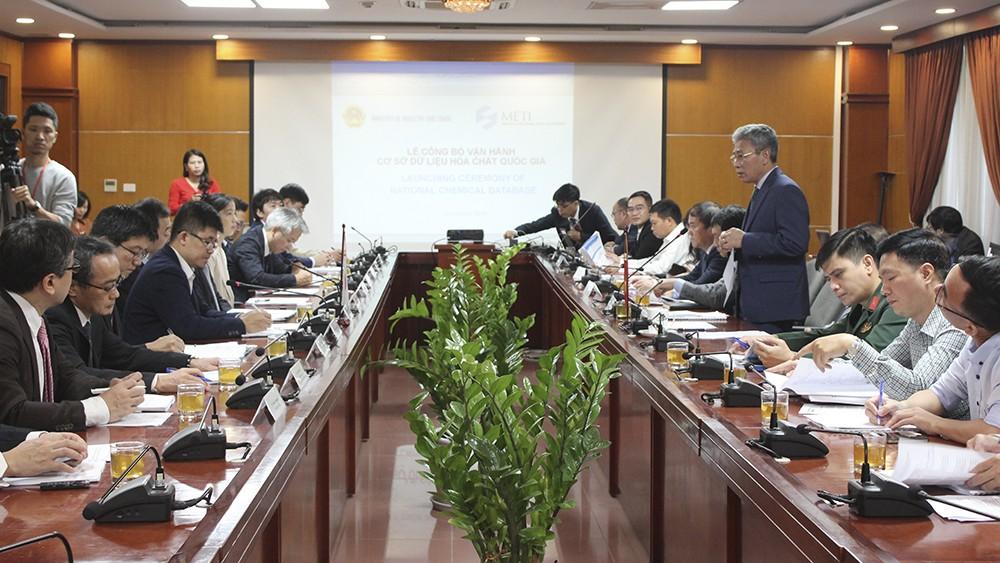 Công bố vận hành Hệ thống cơ sở dữ liệu hóa chất quốc gia tại Bộ Công Thương (Ảnh: BCT)
