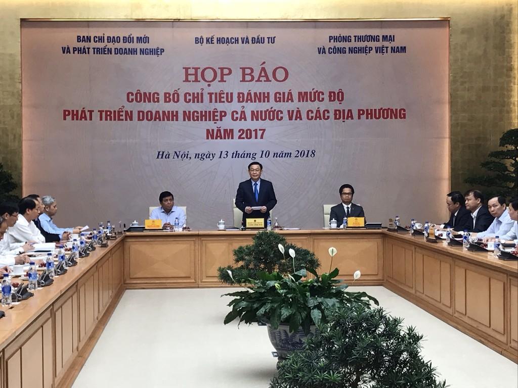 Phó Thủ tướng Vương Đình Huệ giao Bộ KH&ĐT hàng năm công bố thông tin đánh giá mức độ phát triển doanh nghiệp cả nước và các địa phương