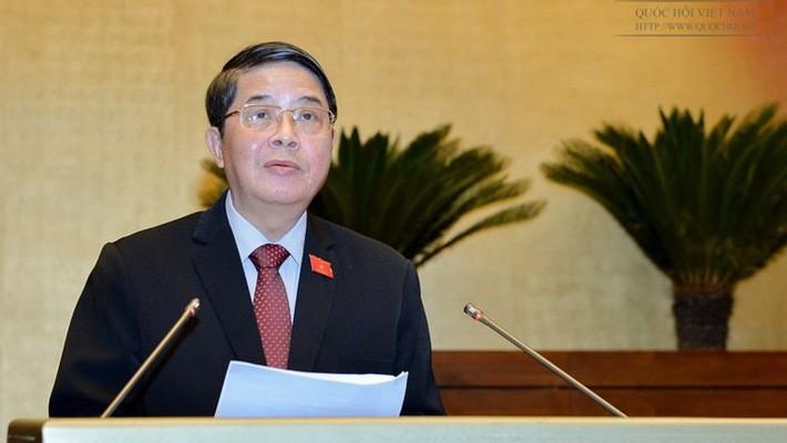 Chủ nhiệm Ủy ban Tài chính - Ngân sách Nguyễn Đức Hải  đánh giá việc điều chỉnh chính sách thu, công cụ điều tiết các khoản thu chậm đổi mới.  Ảnh: Quochoi.vn