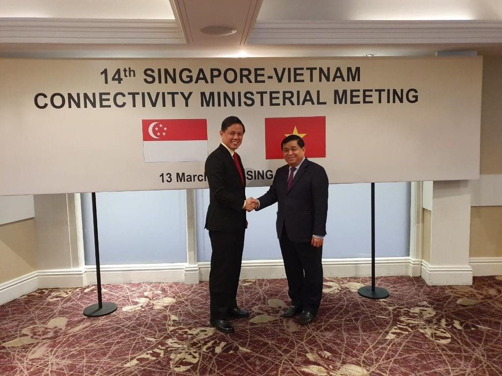 Hội nghị cấp Bộ trưởng lần thứ 14 về Kết nối kinh tế Việt Nam - Singapore - ảnh 1