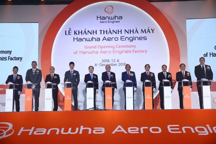 Dự kiến, sản phẩm đầu tiên của Nhà máy sản xuất động cơ máy bay Hanwha sẽ xuất xưởng vào tháng 1/2019. Ảnh: Lê Tiên
