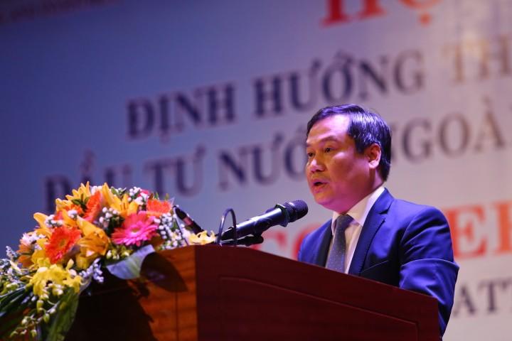Thứ trưởng Bộ Kế hoạch và Đầu tư Vũ Đại Thắng phát biểu tại Hội nghị Ảnh: Lê Tiên