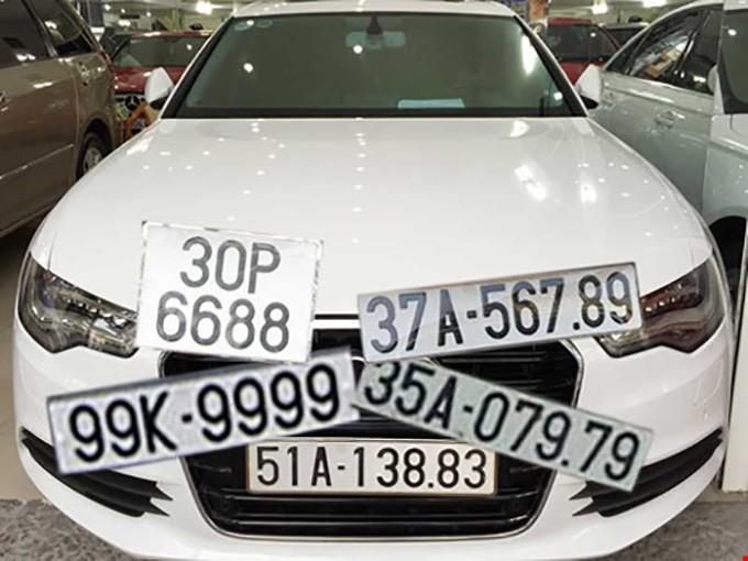 Trên thực tế, pháp luật chưa quy định biển số xe là một loại tài sản nên chưa thể tiến hành đấu giá. Ảnh: HTD