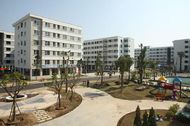 Dự án nhà ở xã hội Đặng Xá tại huyện Gia Lâm. Ảnh: Thái Hiền