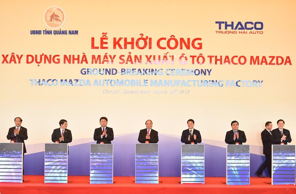 Thủ tướng ấn nút khởi công nhà máy ô tô nửa tỷ USD tại Quảng Nam - ảnh 1