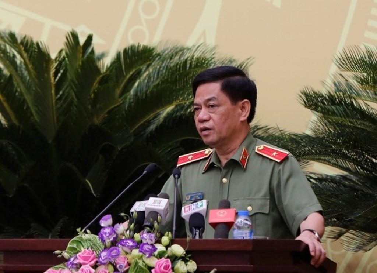 Giám đốc Công an thành phố Hà  Nội Đoàn Duy Khương. Ảnh VGP