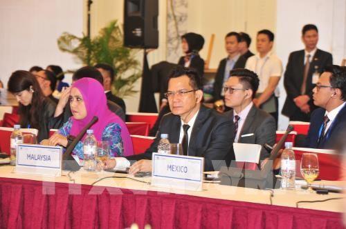 Đại biểu các nền kinh tế APEC tham dự Đối thoại Chính sách cao cấp về du lịch bền vững. Ảnh: TTXVN