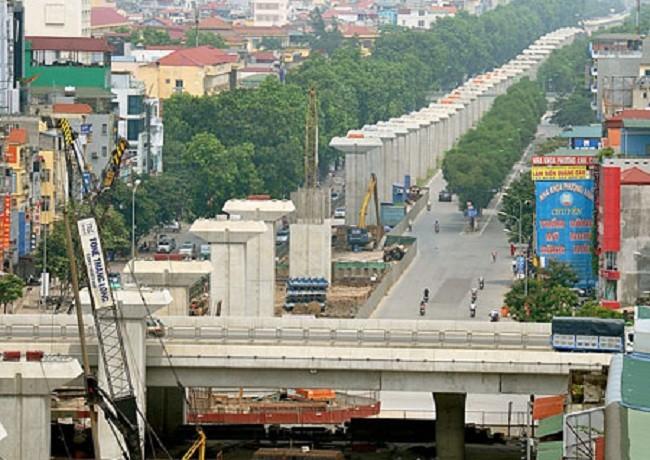 Tuyến đường sắt Nhổn - Ga Hà Nội. Ảnh minh họa