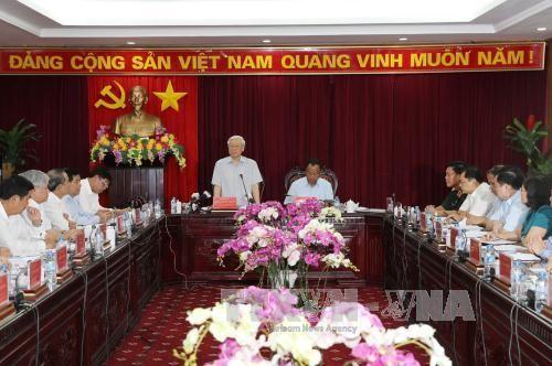 Tổng Bí thư Nguyễn Phú Trọng thăm, làm việc tại tỉnh Bắc Kạn - ảnh 1