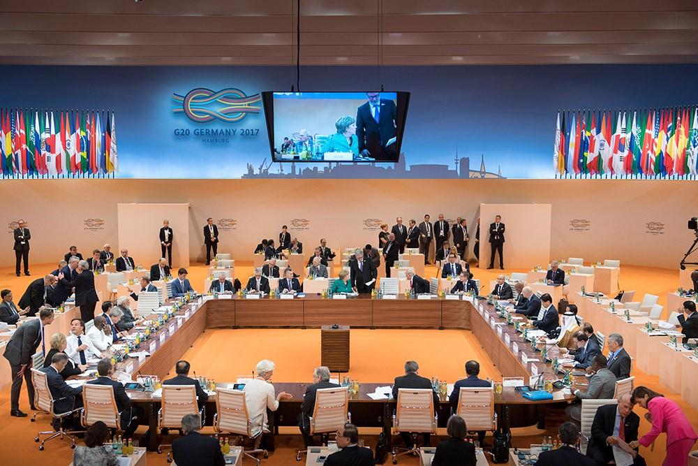 Hội nghị G20 năm 2017 diễn ra với nhiều phiên họp căng thẳng.
