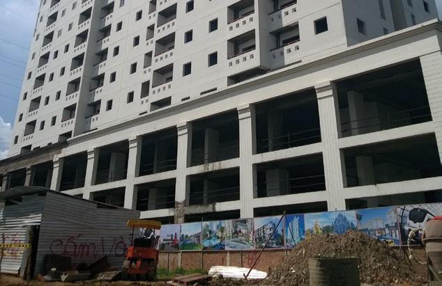 Dù đã hoàn thiện xong phần thô nhưng tới nay chung cư Gia Phú vẫn bị bỏ hoang