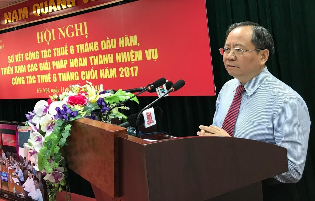 Thứ trưởng Bộ Tài chính Đỗ Hoàng Anh Tuấn phát biểu tại hội nghị. Ảnh: VGP