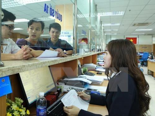 Doanh nghiệp mở tờ khai hàng hóa xuất nhập khẩu tại Chi cục Hải quan cửa khẩu Sân bay quốc tế Nội Bài thuộc Cục Hải quan Hà Nội. Ảnh: TTXVN
