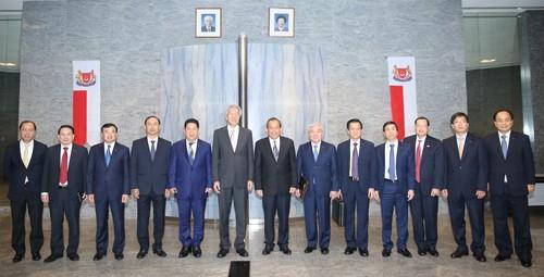 Phó Thủ tướng Thường trực Trương Hòa Bình thăm chính thức Singapore - ảnh 3