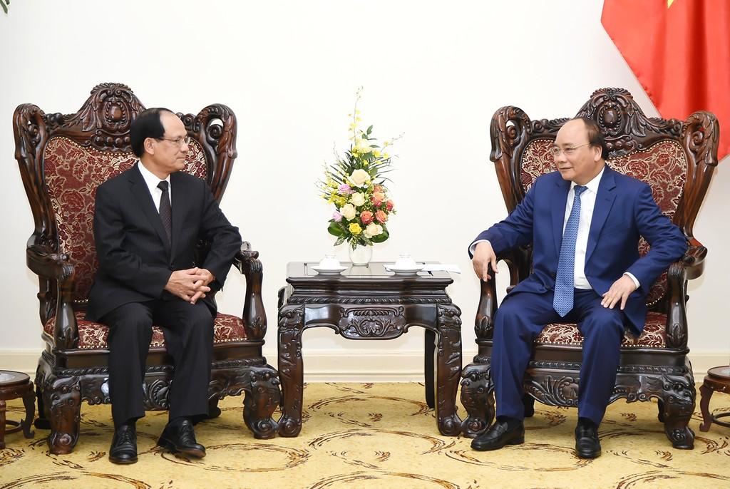Thủ tướng Nguyễn Xuân Phúc tiếp Tổng Thư ký ASEAN Lê Lương Minh. Ảnh: VGP