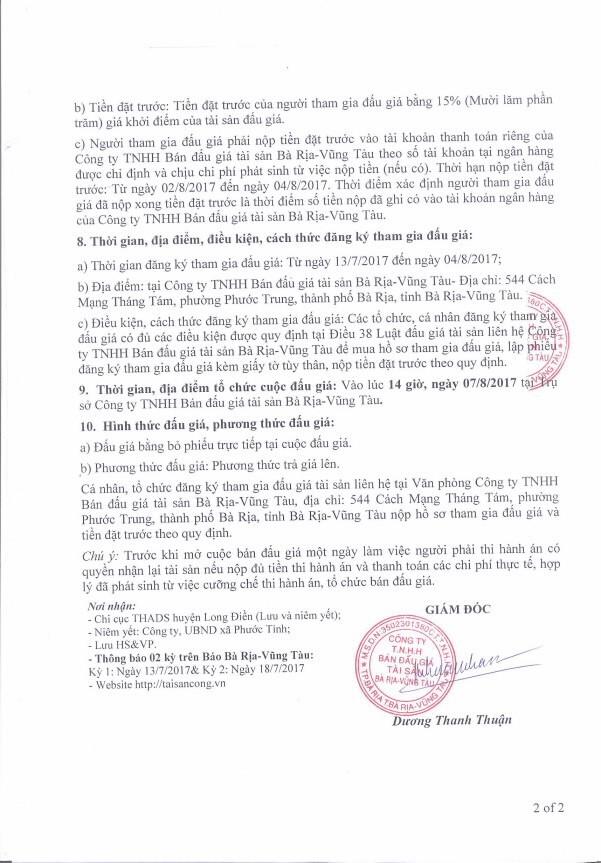 Đấu giá quyền sử dụng đất tại huyện Long Điền, Bà Rịa – Vũng Tàu - ảnh 2