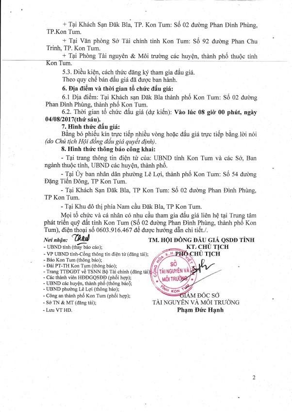 Đấu giá quyền sử dụng đất tại TP.Kon Tum, Kon Tum - ảnh 2