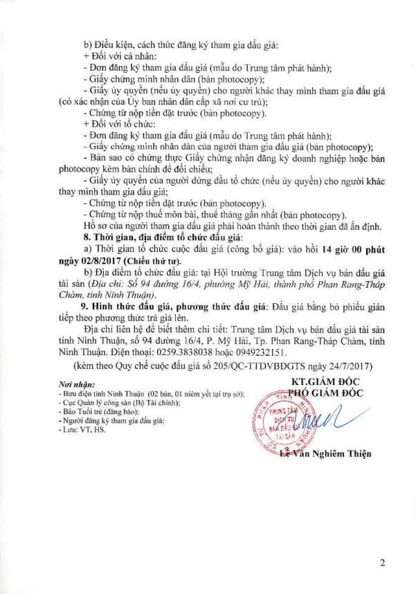 Đấu giá xe ô tô tại Ninh Thuận - ảnh 2
