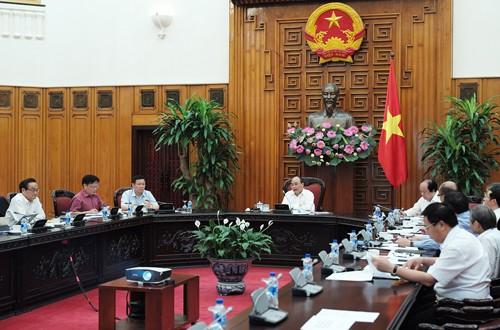 Quang cảnh cuộc họp của Thủ tướng với Tổ tư vấn. Ảnh: VGP