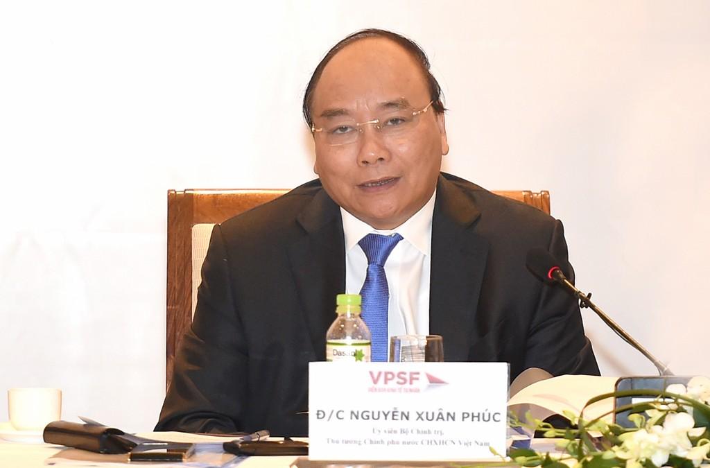 Thủ tướng Chính phủ Nguyễn Xuân Phúc phát biểu tại Diễn đàn Kinh tế tư nhân Việt Nam sáng 31/7. Ảnh: VGP