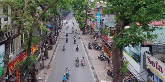 Theo quy đường vành đai 1, các hộ dân bên dãy lẻ đường La Thành cơ bản sẽ phải di dời.